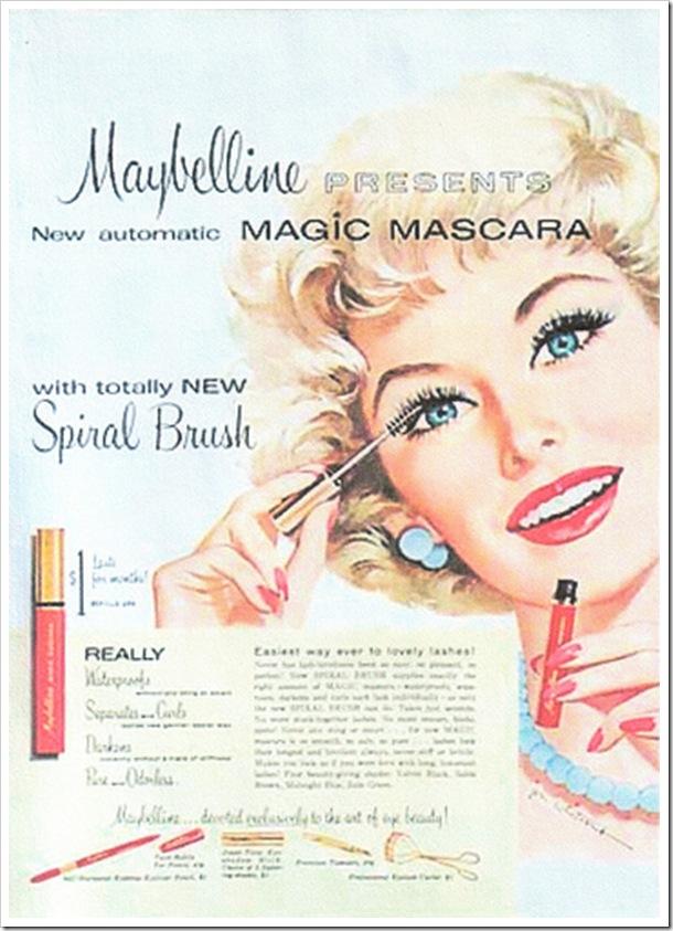 рекламный плакат maybelline, тушь для ресниц