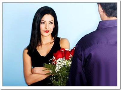 цветы, мужчина и женщина