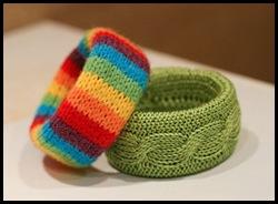 вязанные браслеты, модные украшения