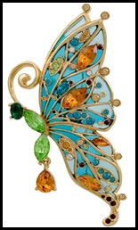 яркие украшения, брошь бабочка